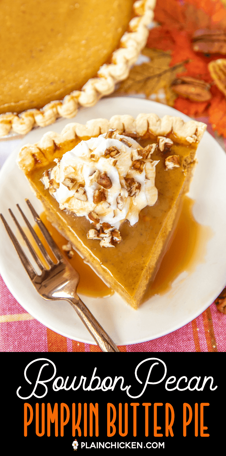 slice of pumpkin pie on a plate