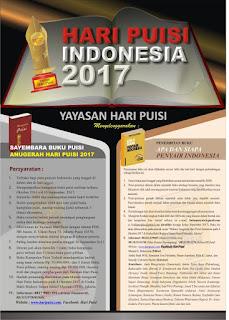 Sayembara Buku Puisi Anugrah Hari Puisi 2017 by Yayasan Hari Puisi