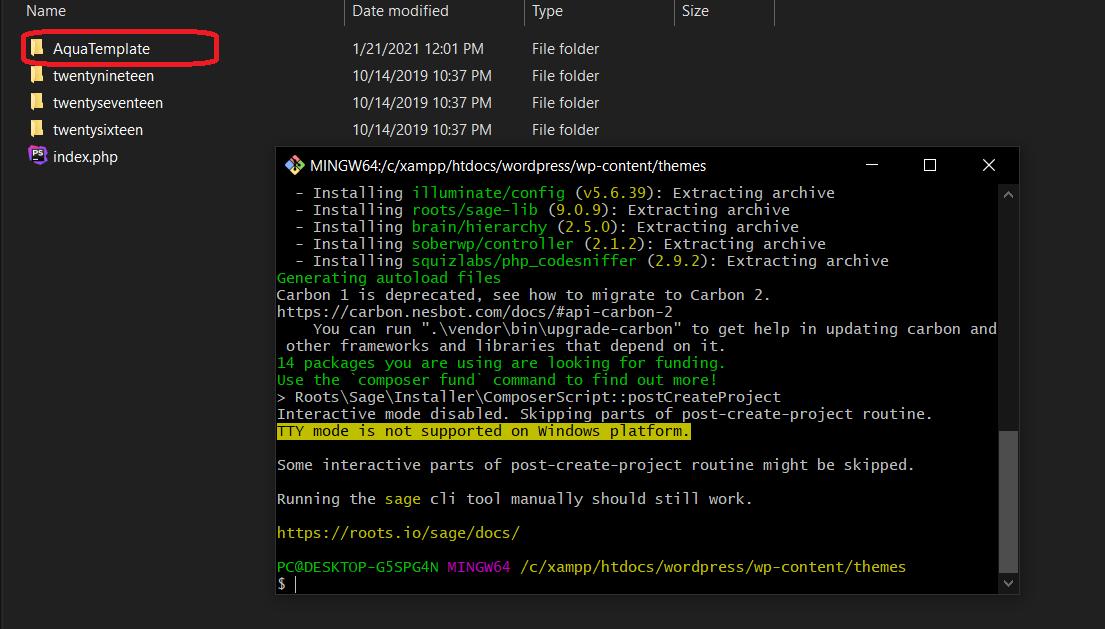 بناء مشروع تطوير ثيم ووردبريس بإستخدام Root/Sage