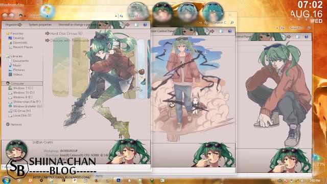 Download Tema Windows 7 Miku - Suna no Wakusei