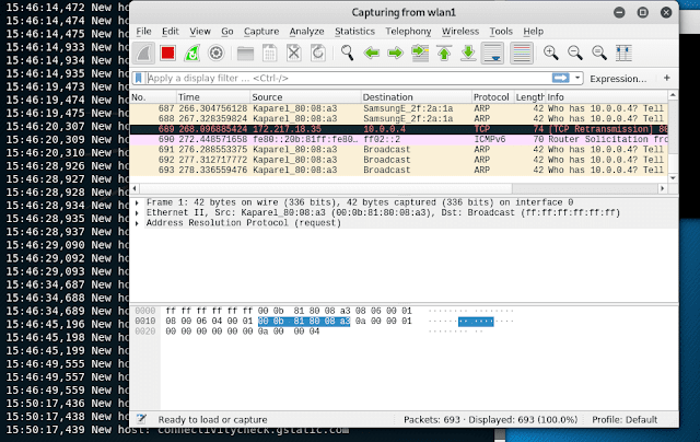 Data Analysis in Wireshark