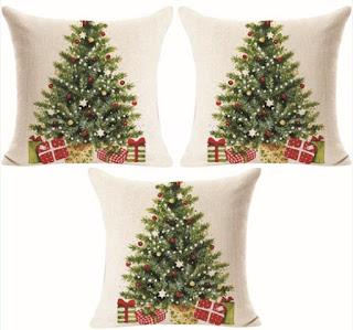 Xmas Gift Pillows: Cover Case with Christmas Tree Decor Design - Goodtrade8