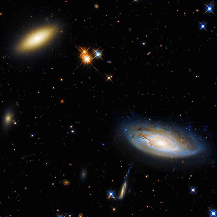 Dupla chama a atenção em foto espetacular do telescópio Hubble