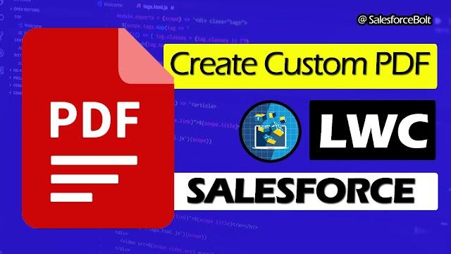 Create Custom PDF in Lightning Web Component | Salesforce ☁️⚡️