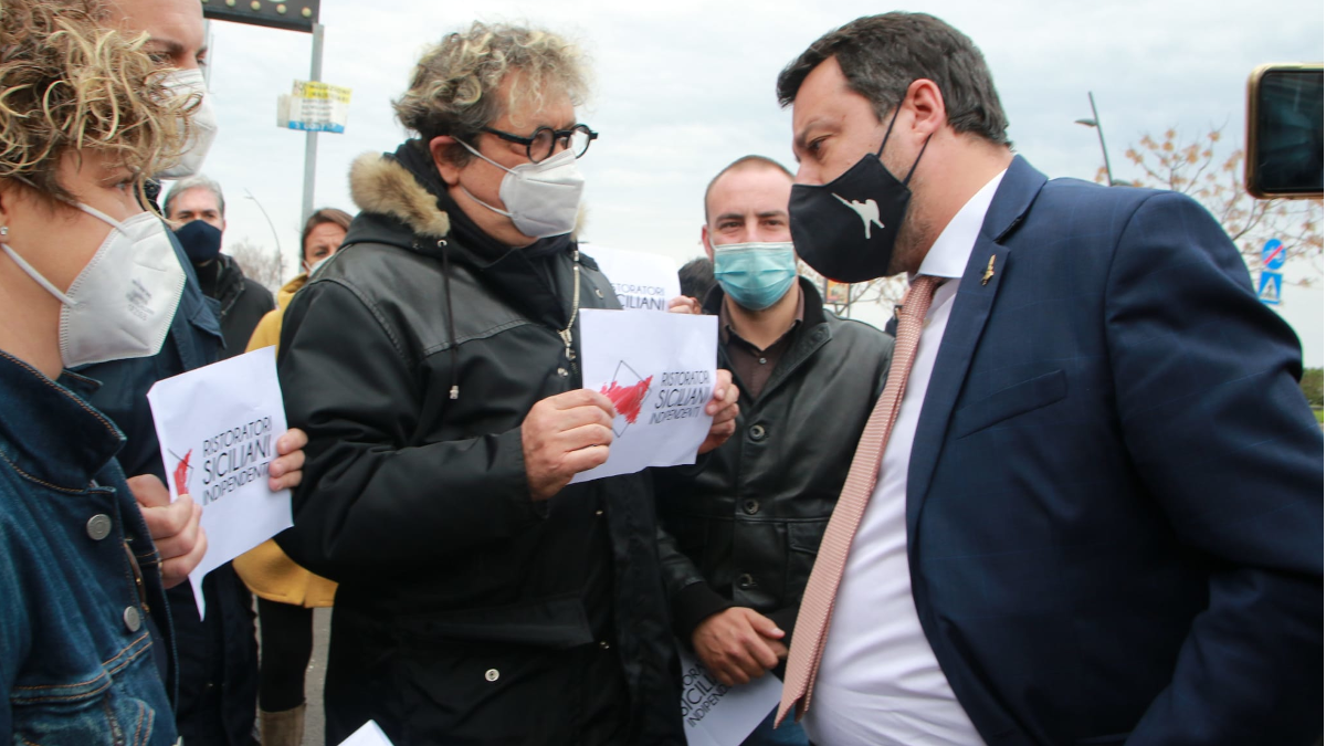 Comitato Ristoratori Siciliani Indipendenti Matteo Salvini