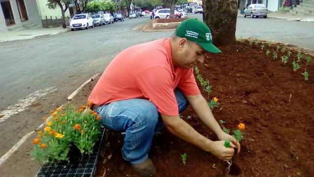 Plantio de flores vai garantir colorido especial nas ruas de Iretama