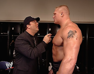 WWE King of the Ring 2002 - Paul Heyman psyches up Brock Lesnar