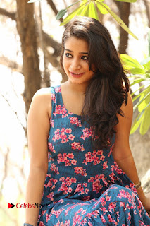 Actress Santoshi Sharma Pictures in Floral Dress at 4x4 Movie Opening  0064.JPG