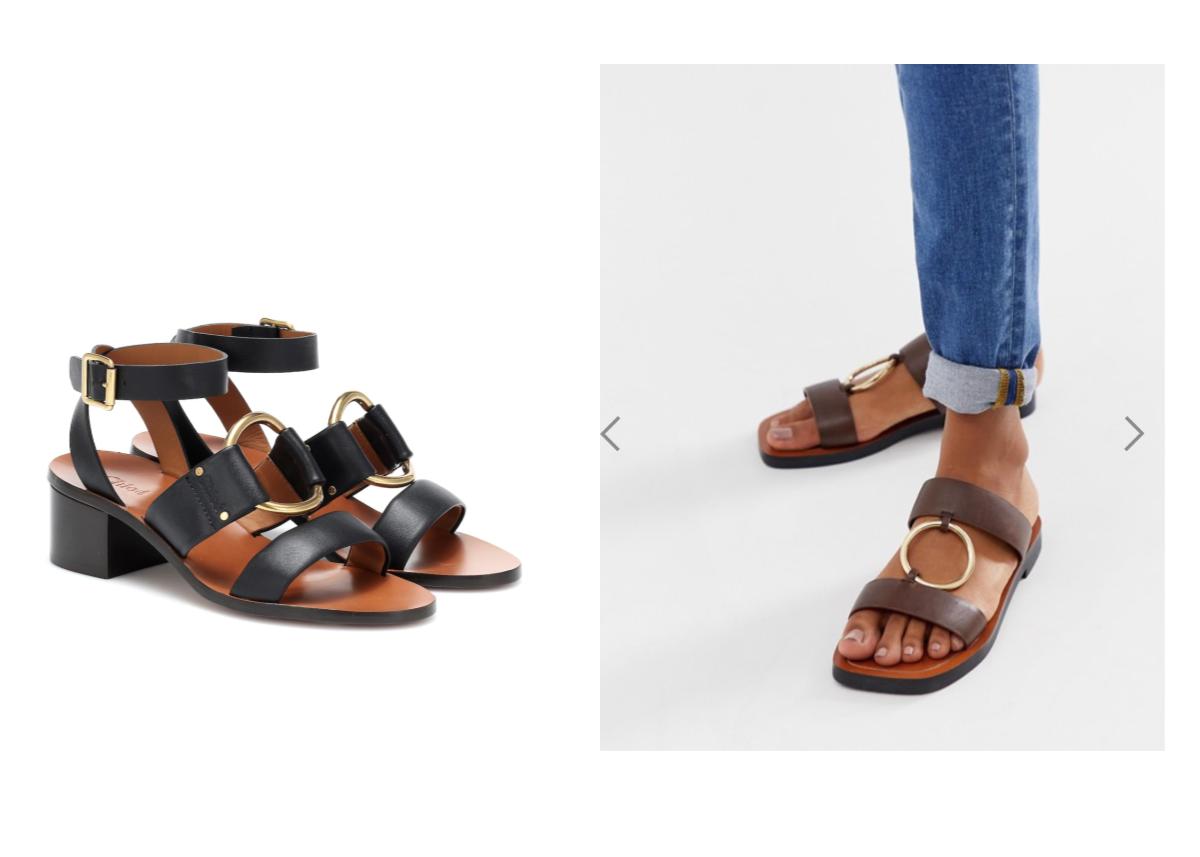 Chloe ring sandal dupe