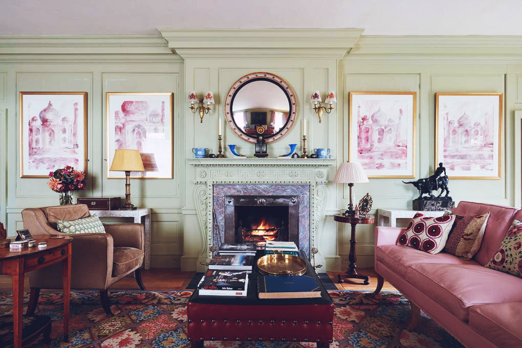 Décor Inspiration: A Warm & Art-Filled Queen Anne House in Herefordshire by Interior Decorator Edward Bulmer