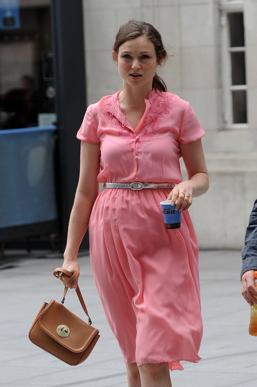 HQ Photos of Sophie Ellis Bextor arrives at BBC Radio 1 Studio in London