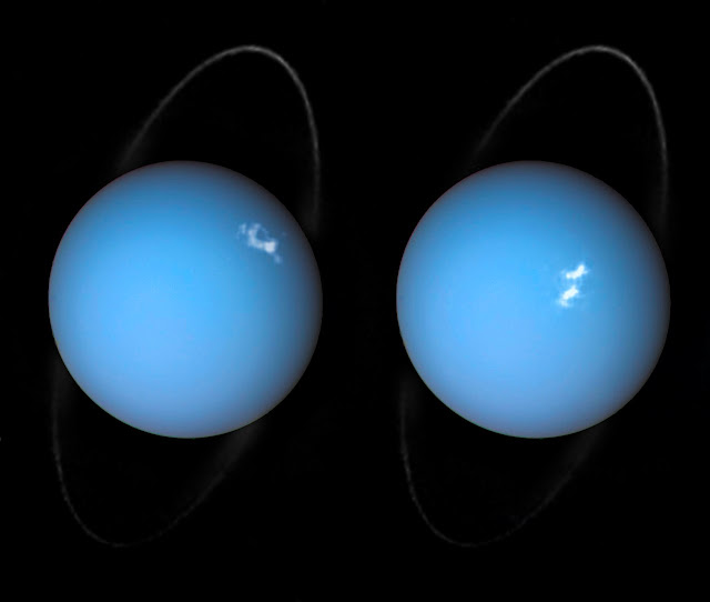 Hubble spots auroras on Uranus
