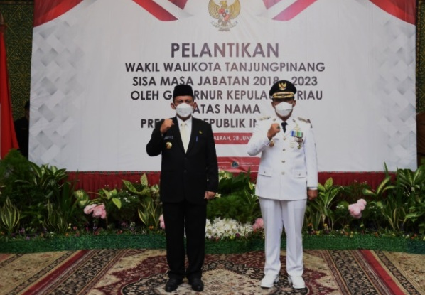 Lantik Wakil Walikota Tanjung Pinang, Berikut Harapan Gubernur Kepri