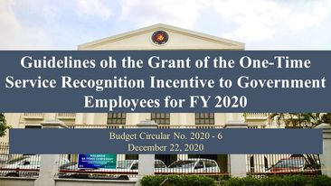 DBM releases guidelines on the grant of SRI to gov't employees