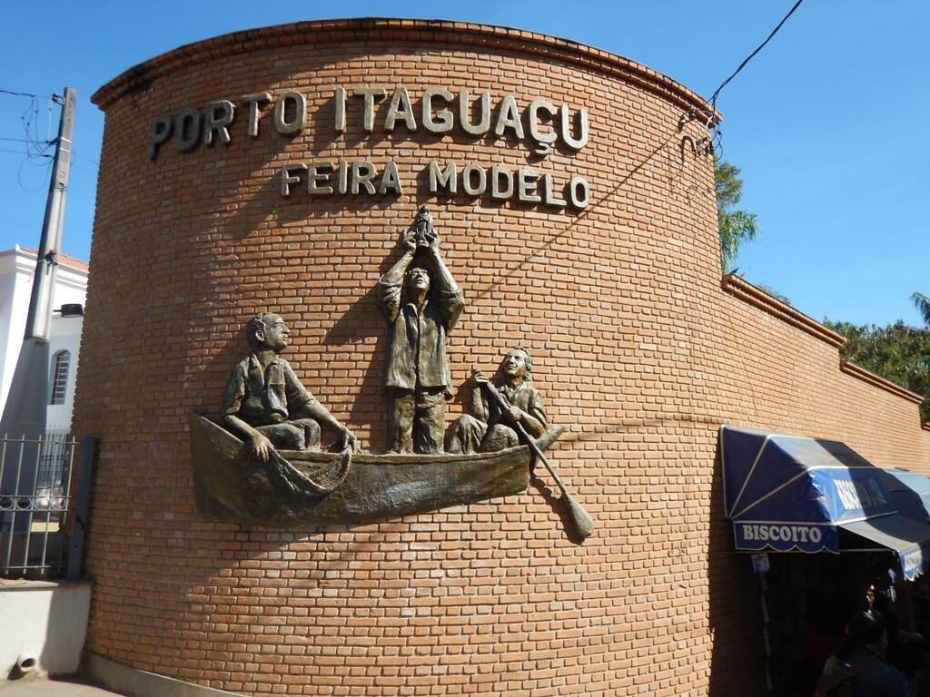 Entrada para o Porto Itaguaçu em Aparecida