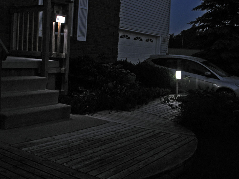 Here Is A Shot Very Early Morning Of Two Versions Of The DIY LED Outdoor  Lamp Project On My Test Pathway. Hard To Photograph The Way I Actually See  It But I ...