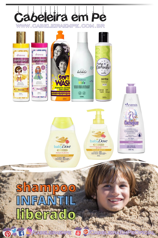 Shampoo Low Poo Infantil - Produtos Liberados para Crianças Dhönna, Soul Power, BetoBita, Griffus, Arvensis e Baby Dove
