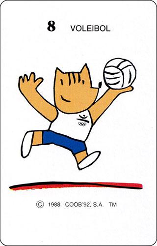 Baraja Cobi Heraclio Fournier Carta 8 Voleibol