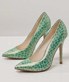 Elegantes y exclusivos zapatos de fiesta verdes