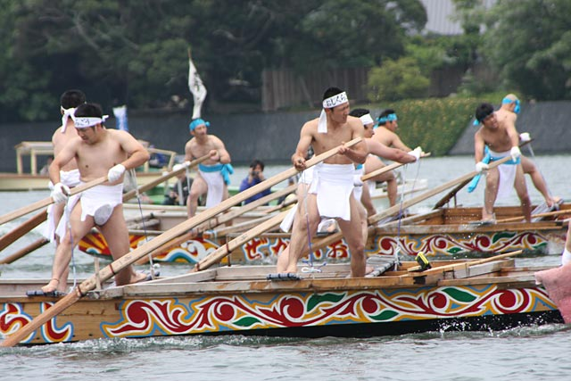 Oshikuragou (boat race in Japanese style), Hagi City, Yamaguchi Pref.