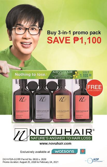 NOVUHAIR Herbal Shampoo for FREE