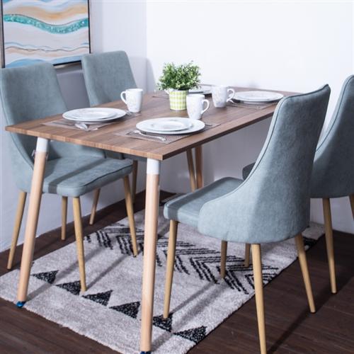Postdam meja makan minimalis kayu 4 kursi