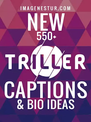 Triller Video Sharing App has become popular in a very short time. so we present some best and new Triller Captions and Bio Ideas for Trillers like captions on dances and acting.
