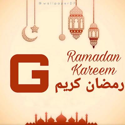 Ramadan Kareem Dp with beautiful A to Z Alphabet For WhatsApp