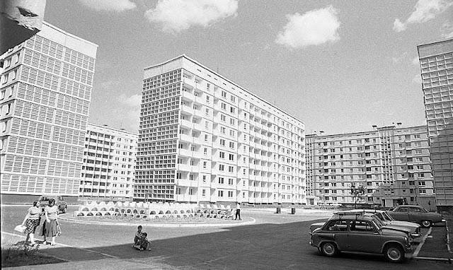 1980-е годы. Рига. Пурвциемс. Дома по нынешним улицам Виршу, Аугуста Деглава и Ницгалес