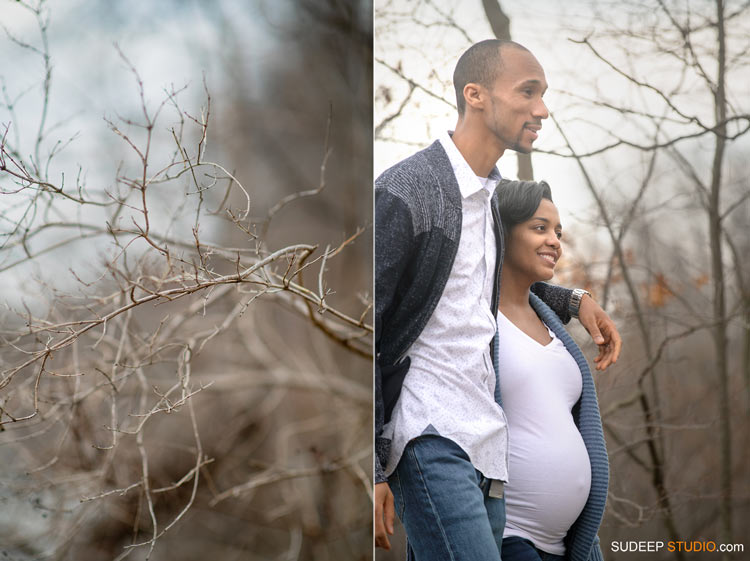 Nature Maternity Photography in Livonia Hines Park by Ann Arbor Maternity Portrait Photographer