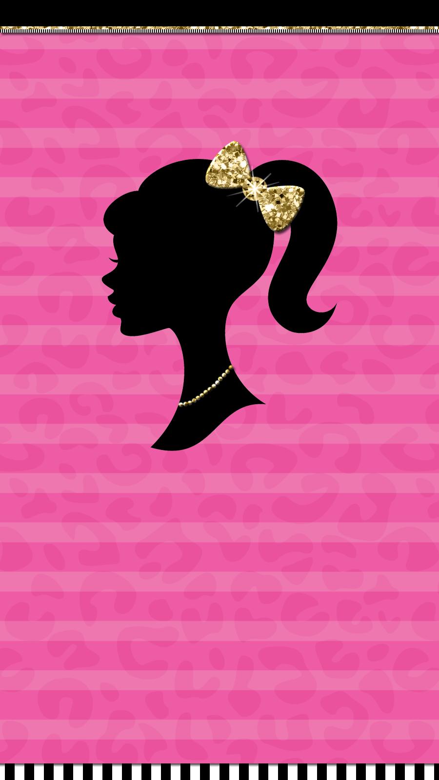 Cute Walls Barbie Girl Wallpaper Set