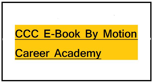 CCC E-Book By Motion Career Academy