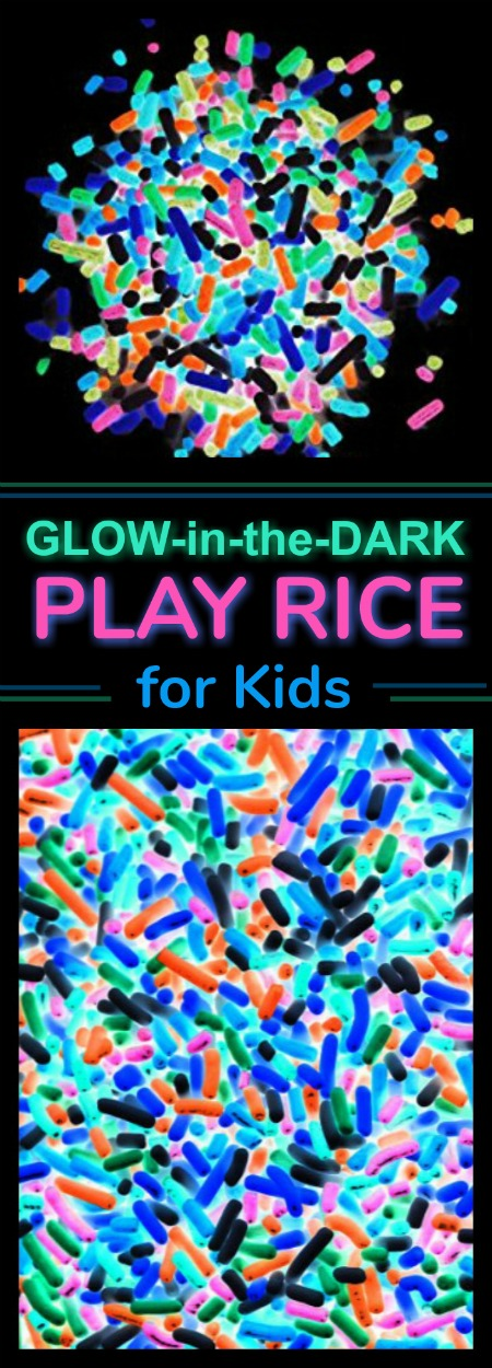 Glow-in-the-Dark Rice for Kids