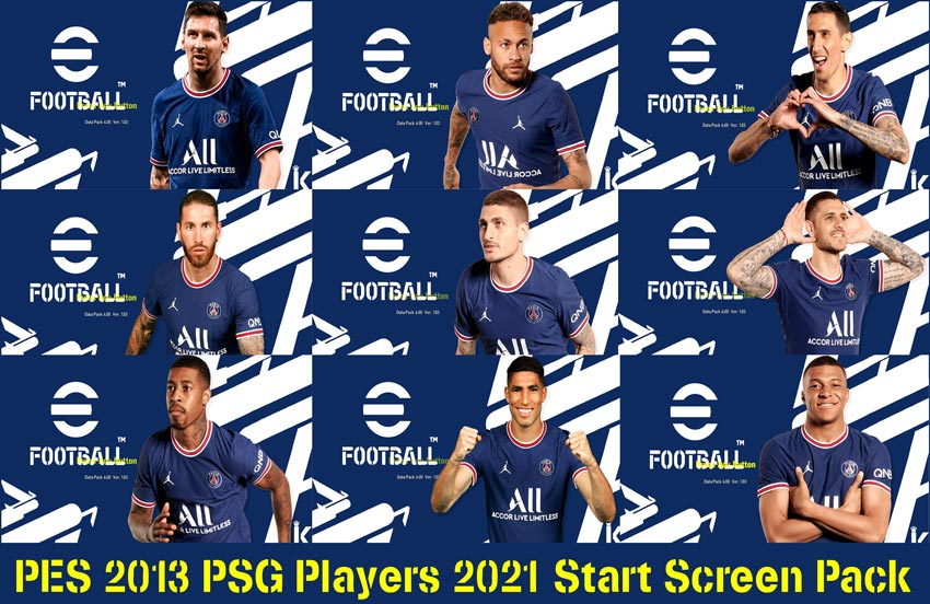 PSG Players 2021 Start Screen Pack For PES 2013