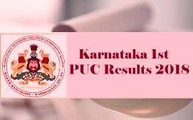 Karnataka PUC Results 2018, 1st PUC Exam Result 2018, PUC Result