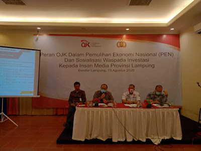 OJK Lampung Ingatkan Agar Berhati-hati dari Penawaran Investasi Ilegal di Masa Pandemi Covid-19