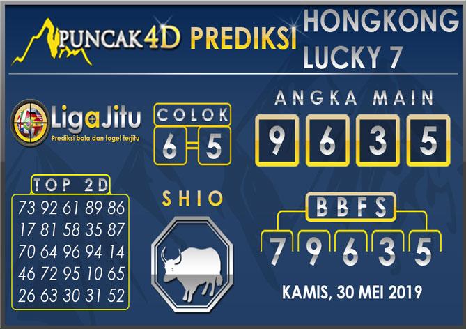 PREDIKSI TOGEL HONGKONG LUCKY7 PUNCAK4D 30 MEI 2019