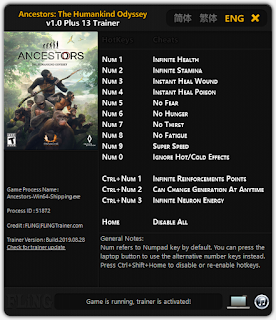 Ancestors The Humankind Odyssey (PC) Hileleri Trainer
