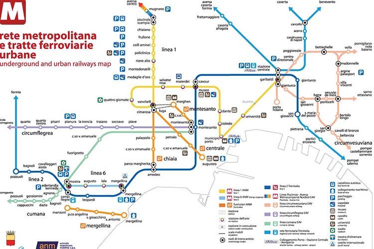 Mappa metropolitana di Napoli