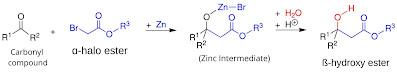 reformatsky reaction, general reaction of reformatsky reaction