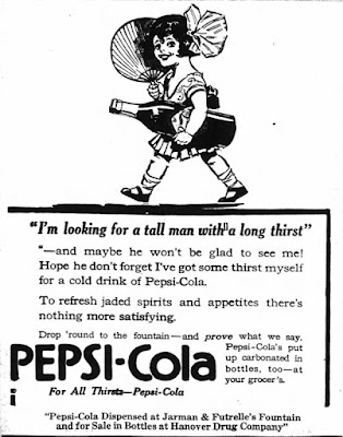 Pepsi-Cola -- I'm looking for a tall man with a long thirst