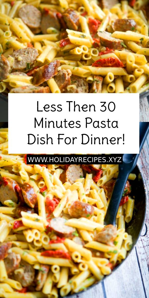 Less Then 30 Minutes Pasta Dish For Dinner! - A super easy pasta dish with the most amazing, creamiest sun-dried tomato sauce ever, made in less than 30 min! #dish #pasta #dinner #easydinnerrecipe #easydinner #maindish #creamsauce #whole30 #whole30recipe #whole30dinner