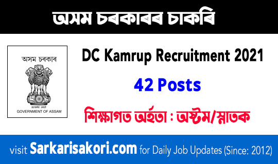 DC Kamrup Recruitment 2021
