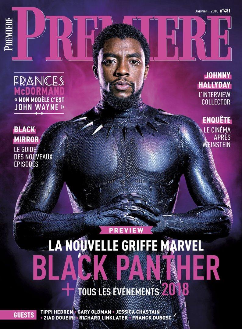 e0bf7c3a4 E ainda nem chegamos em 2018 e o Pantera Negra já ostenta mais uma nova  capa de revista. Desta vez