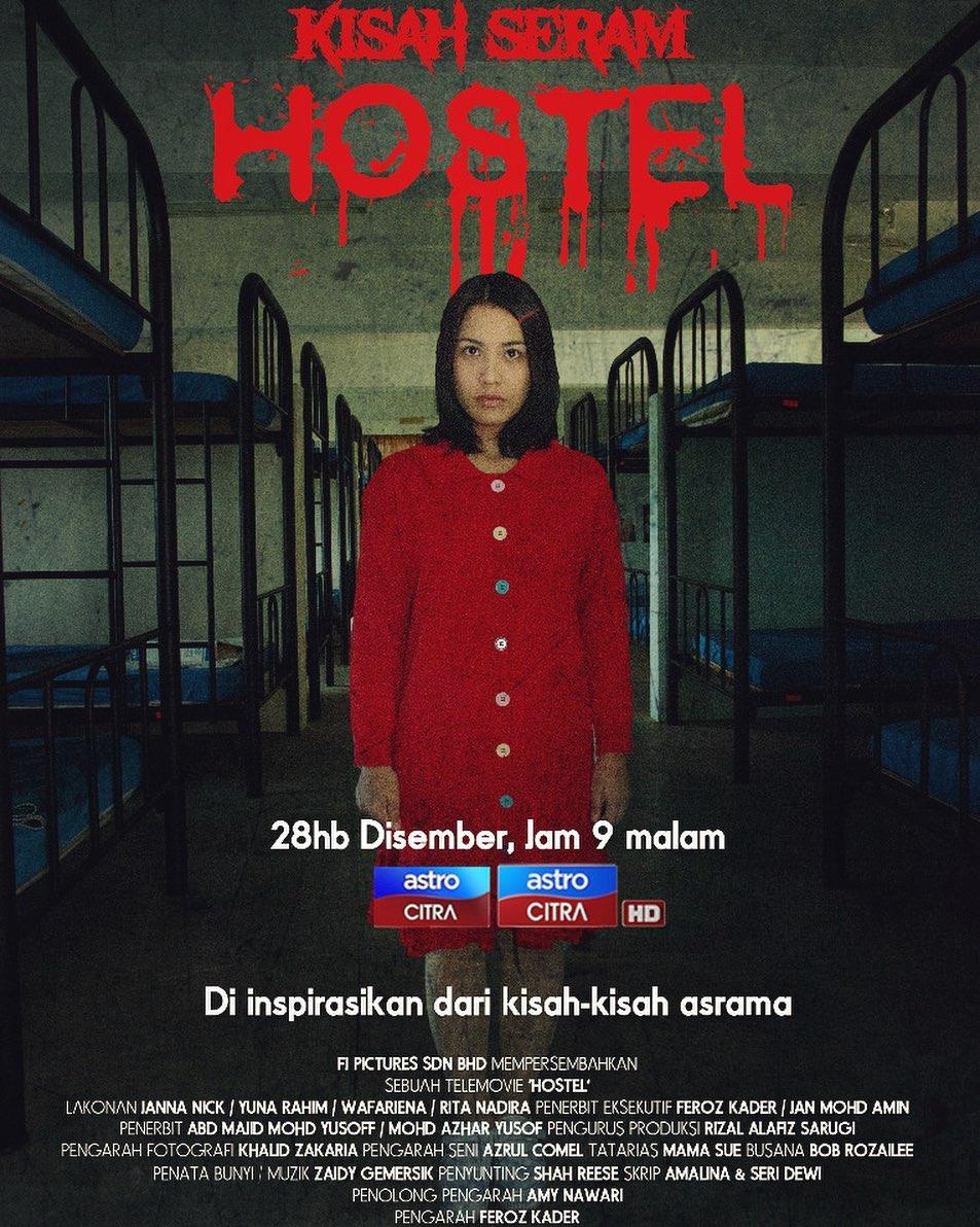 Sinopsis Telemovie Kisah Seram Hostel (2019)