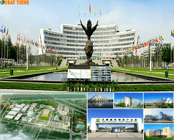 Pusat Perusahaan Tiens Internasional di Tianjin, China