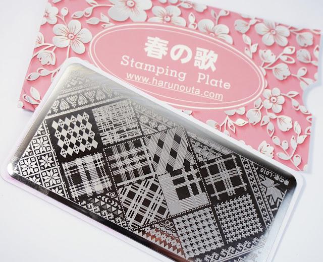 Nurbesten Stamping Schablone Platte L010