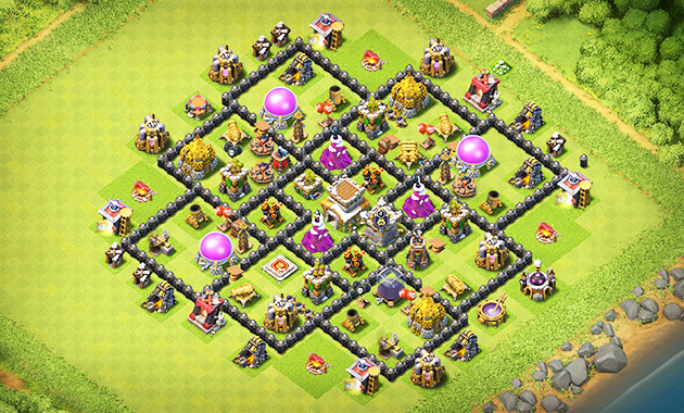 Base Coc Th 8 Kuat Pertahanan 10