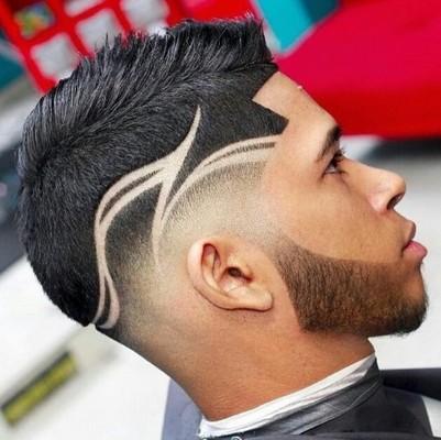 potongan rambut samping tipis atas tebal