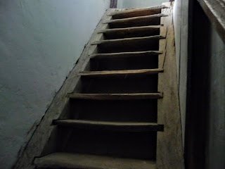 Самбор. Ратуша. Деревянная лестница часовой башни